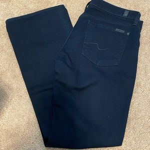 Size 28 7 for all Mankind Bootcut Dark Blue Jeans